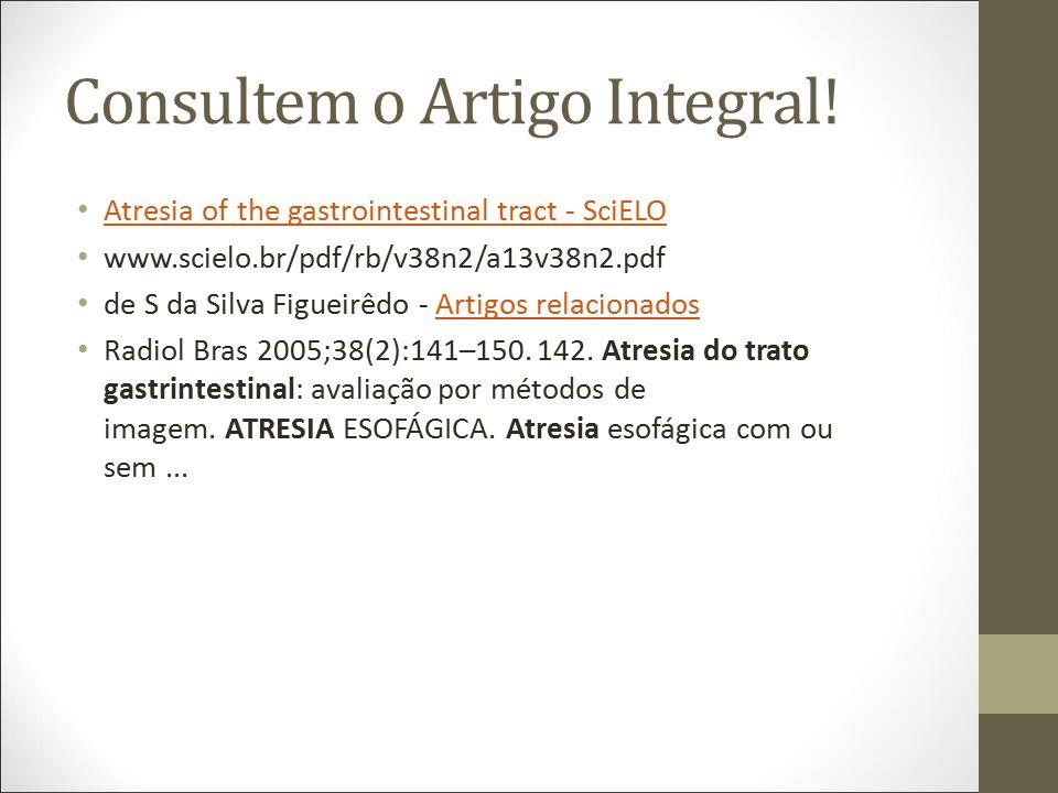 Consultem o Artigo Integral!