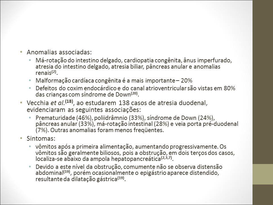 Anomalias associadas: