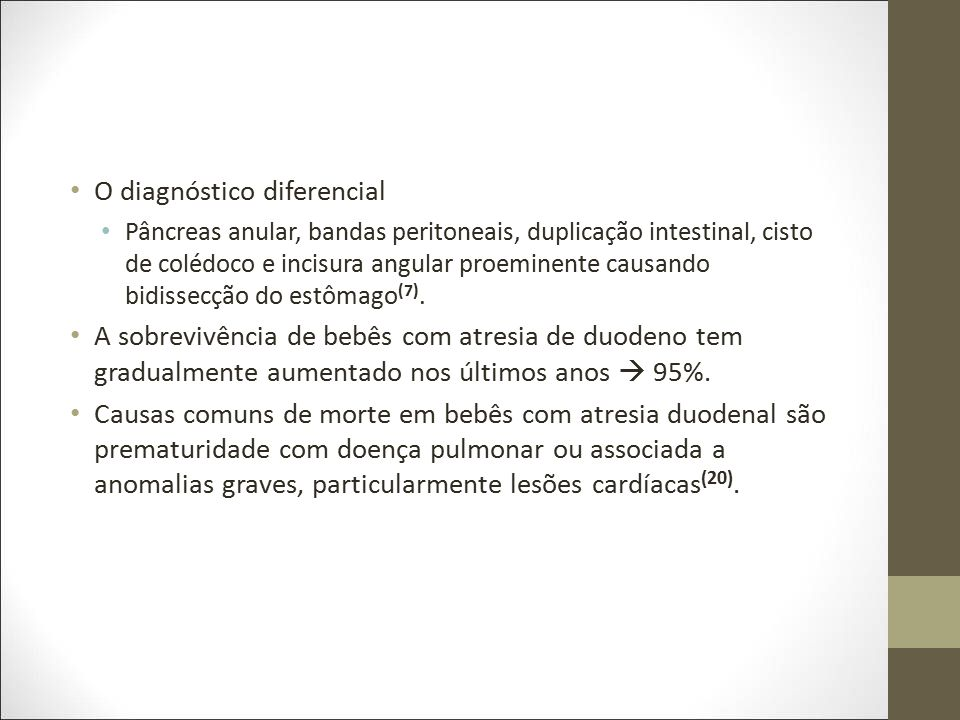 O diagnóstico diferencial