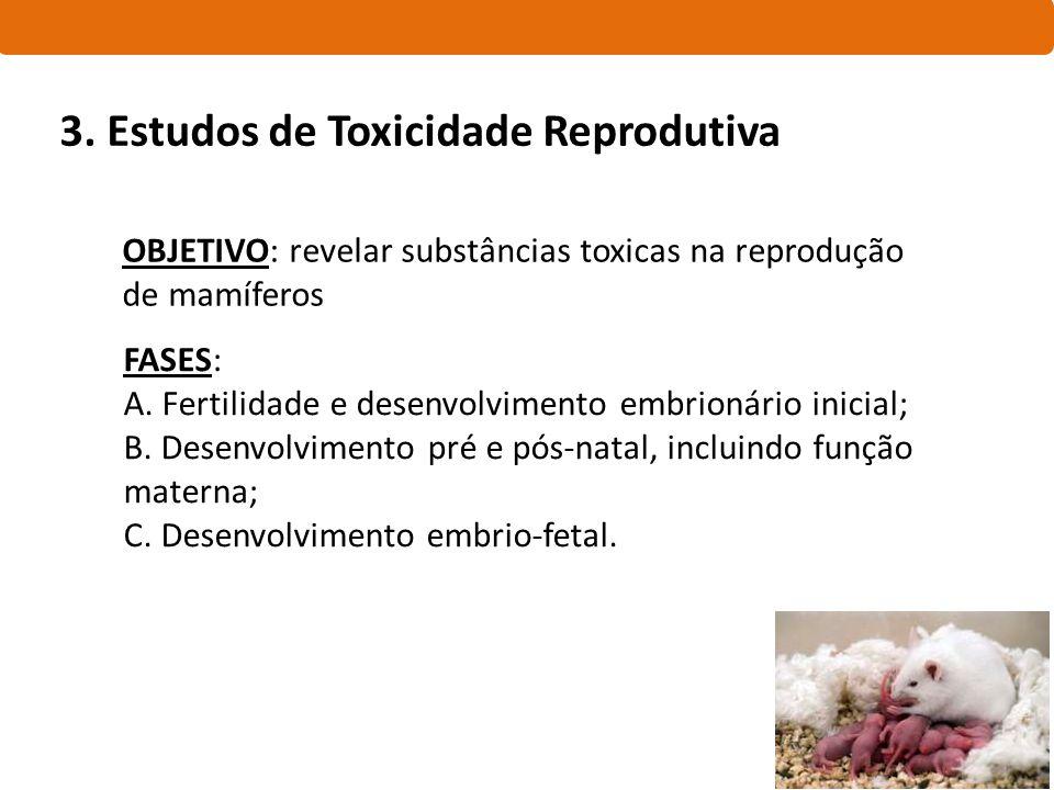 3. Estudos de Toxicidade Reprodutiva