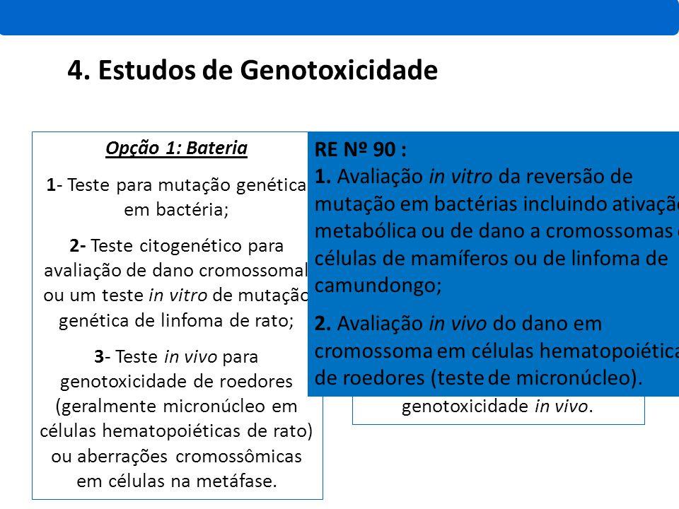 4. Estudos de Genotoxicidade