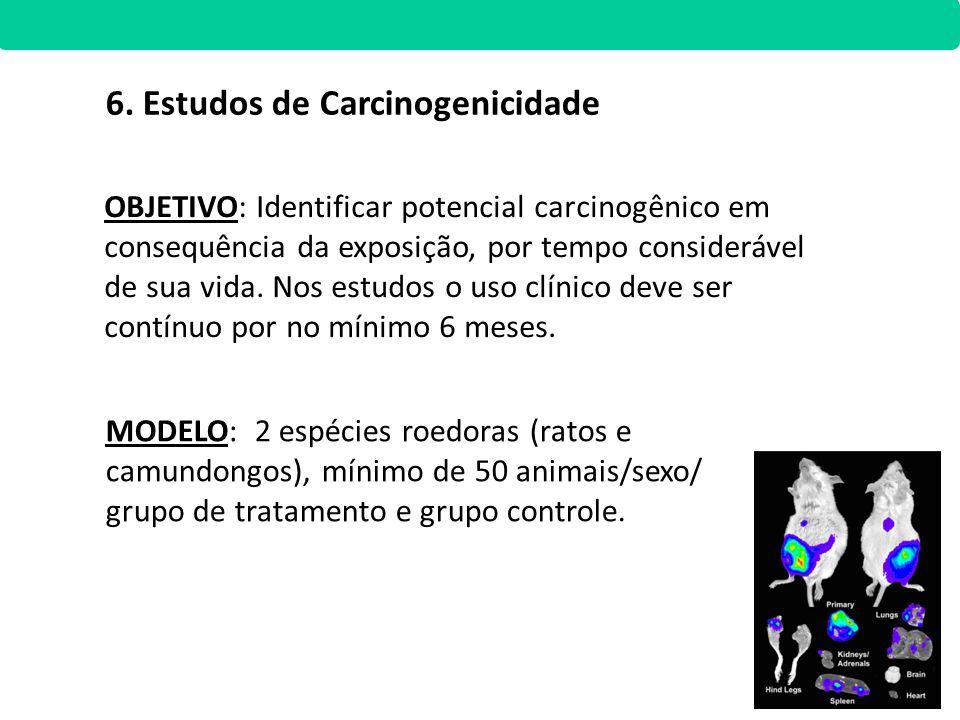 6. Estudos de Carcinogenicidade