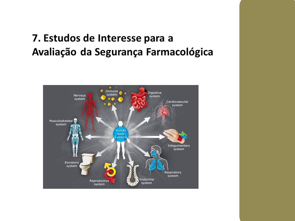 7. Estudos de Interesse para a Avaliação da Segurança Farmacológica