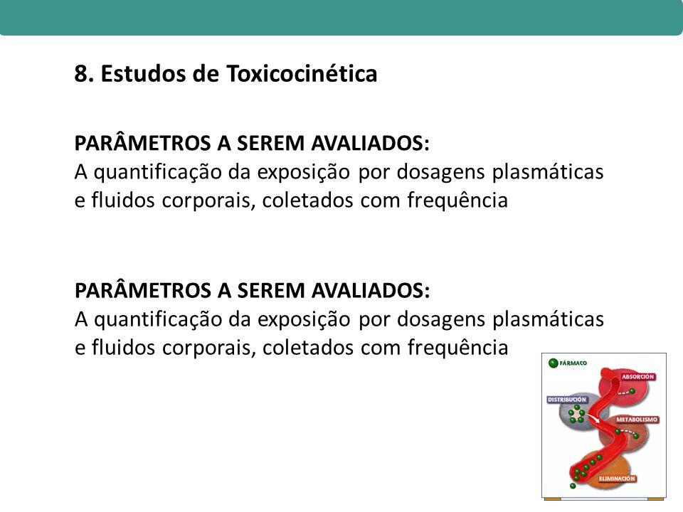 8. Estudos de Toxicocinética