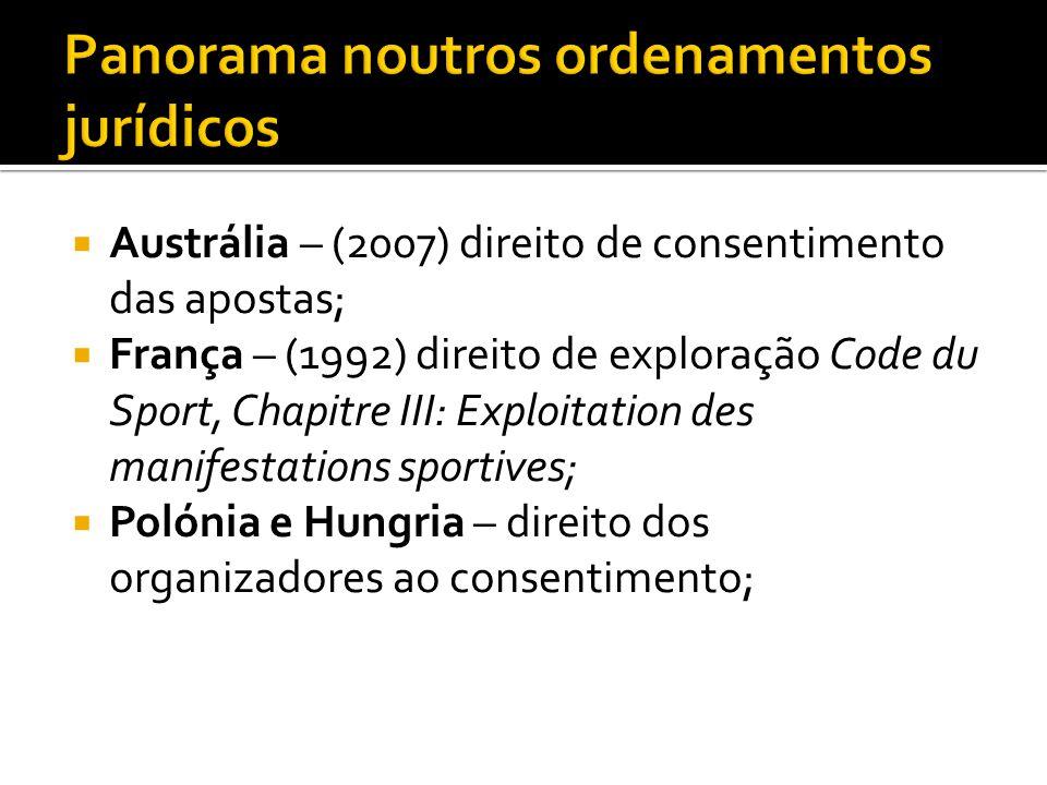 Panorama noutros ordenamentos jurídicos