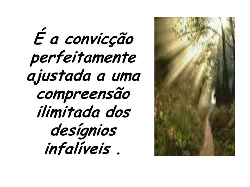 É a convicção perfeitamente ajustada a uma compreensão ilimitada dos desígnios infalíveis .