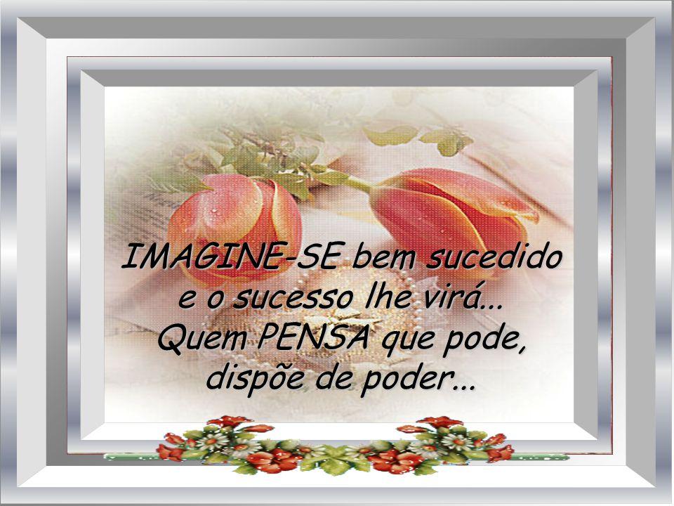 IMAGINE-SE bem sucedido e o sucesso lhe virá...