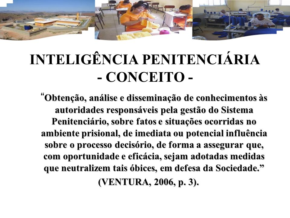 INTELIGÊNCIA PENITENCIÁRIA - CONCEITO -