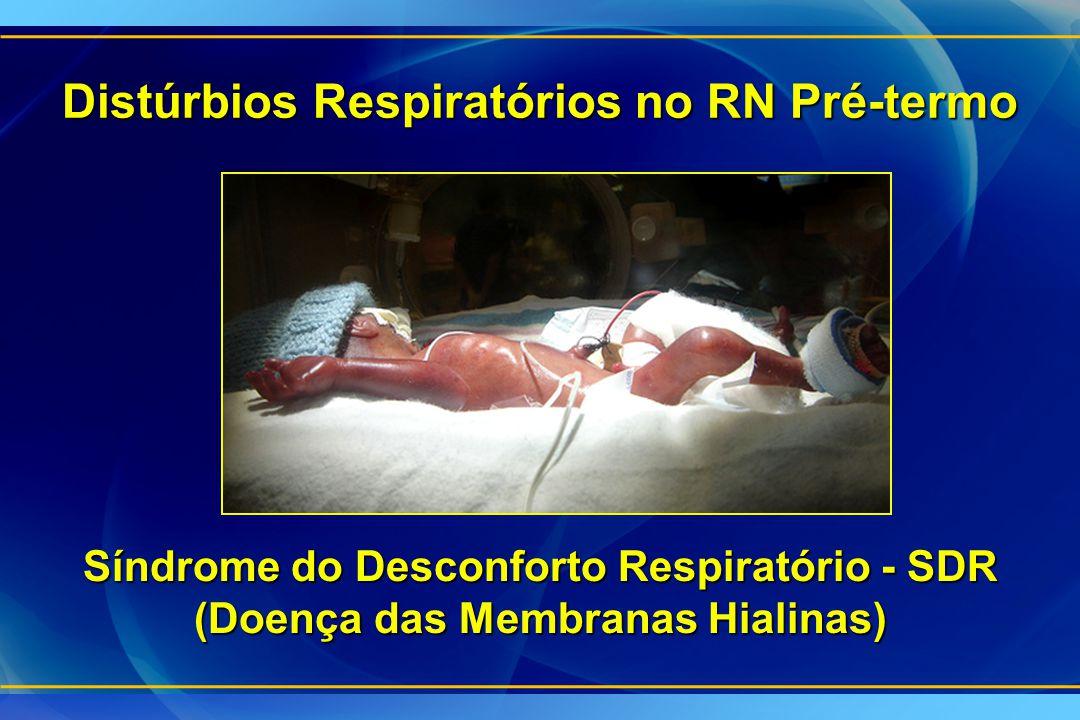 Distúrbios Respiratórios no RN Pré-termo