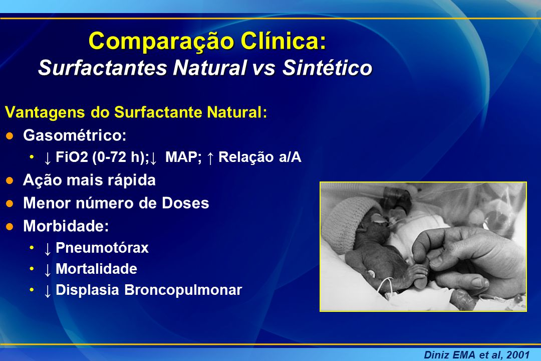 Comparação Clínica: Surfactantes Natural vs Sintético