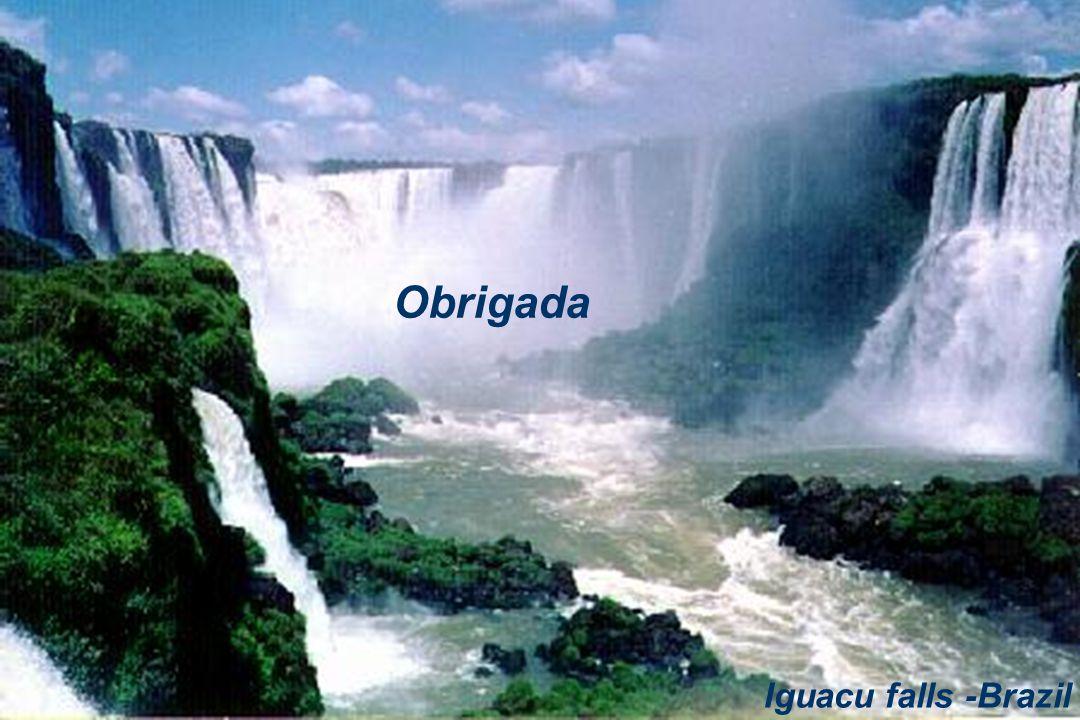 Obrigada Iguacu falls -Brazil