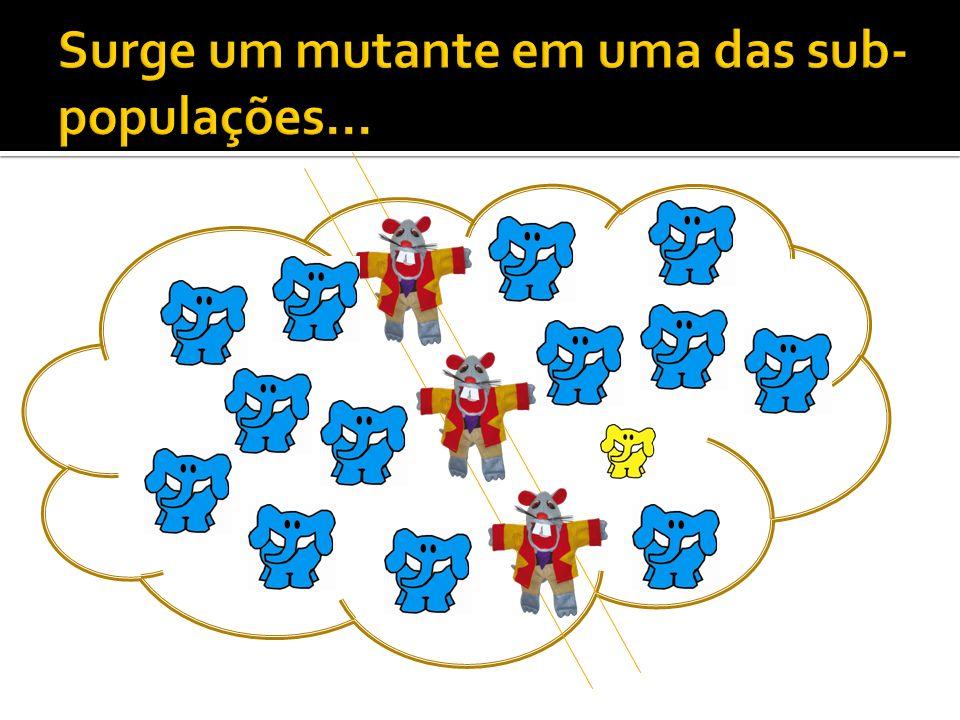 Surge um mutante em uma das sub-populações...