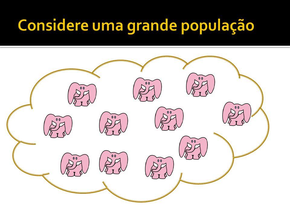 Considere uma grande população