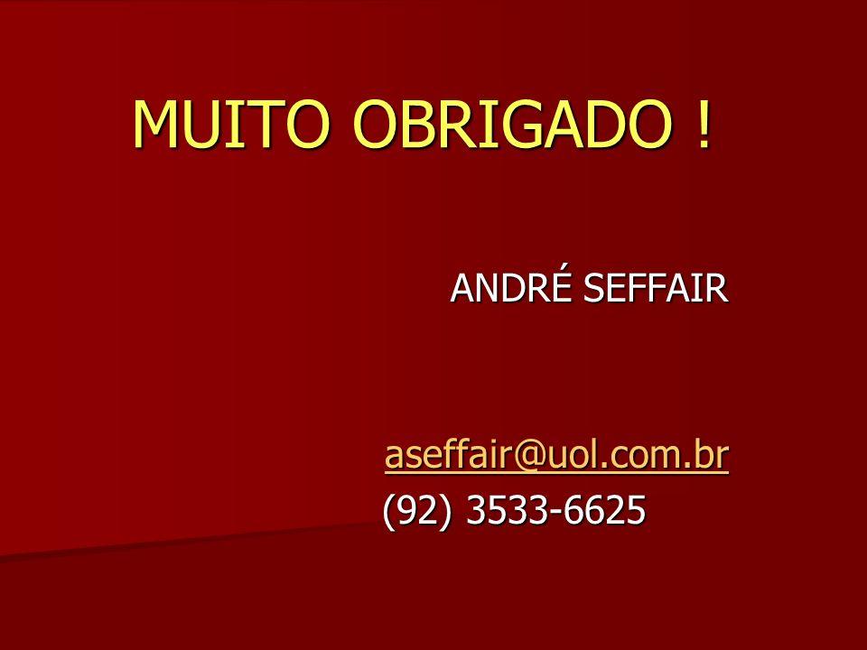 ANDRÉ SEFFAIR aseffair@uol.com.br (92) 3533-6625