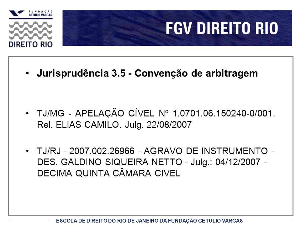 Jurisprudência 3.5 - Convenção de arbitragem