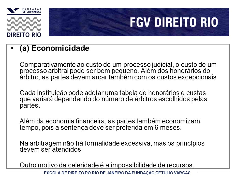 (a) Economicidade