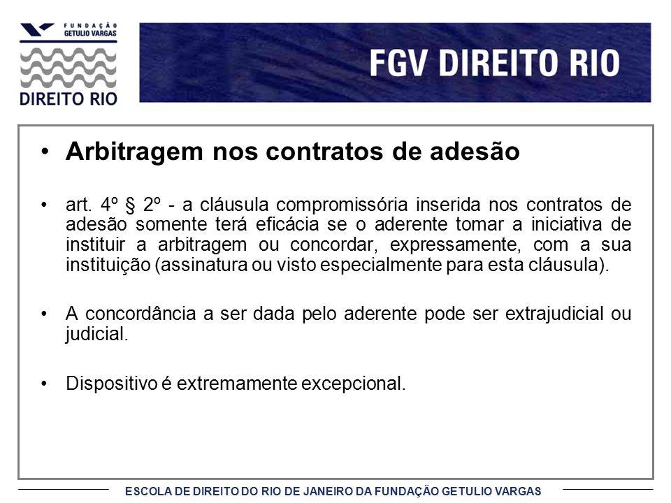 Arbitragem nos contratos de adesão