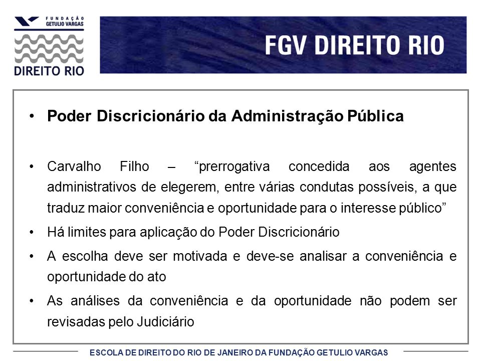 Poder Discricionário da Administração Pública