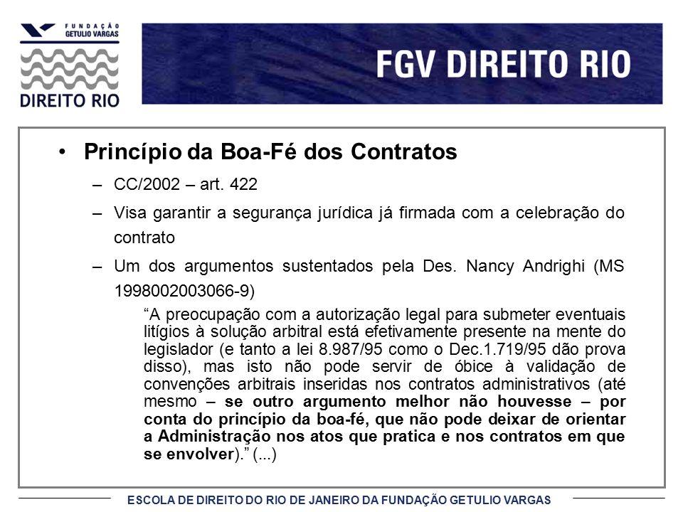 Princípio da Boa-Fé dos Contratos