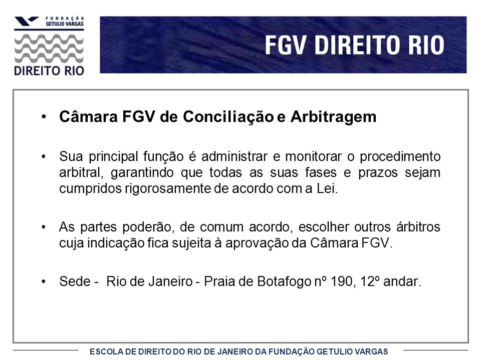 Câmara FGV de Conciliação e Arbitragem