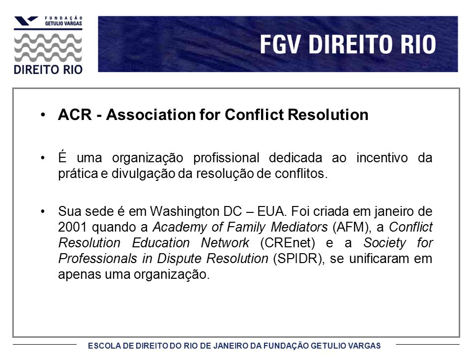 ACR - Association for Conflict Resolution