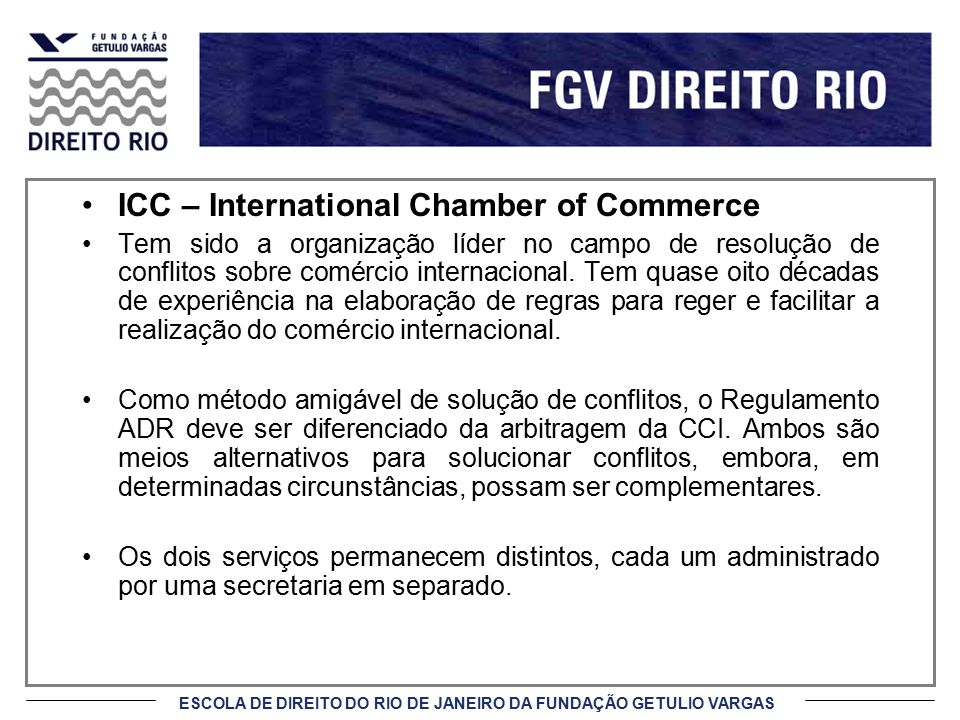 ICC – International Chamber of Commerce