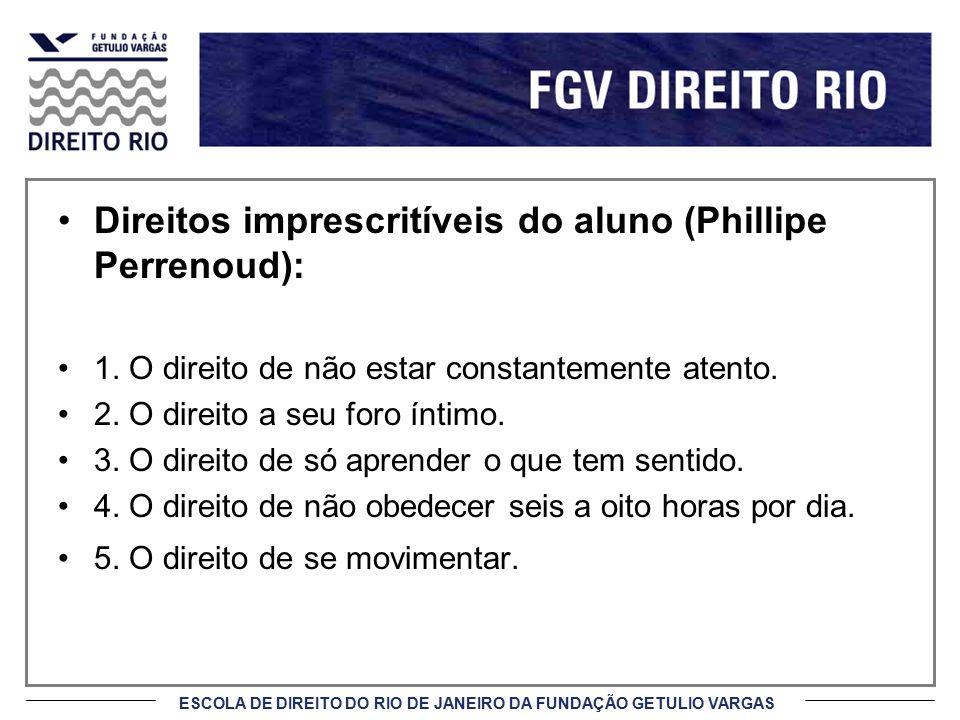Direitos imprescritíveis do aluno (Phillipe Perrenoud):