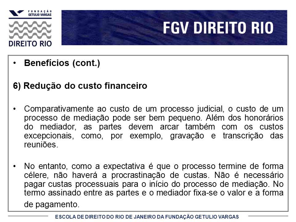 6) Redução do custo financeiro