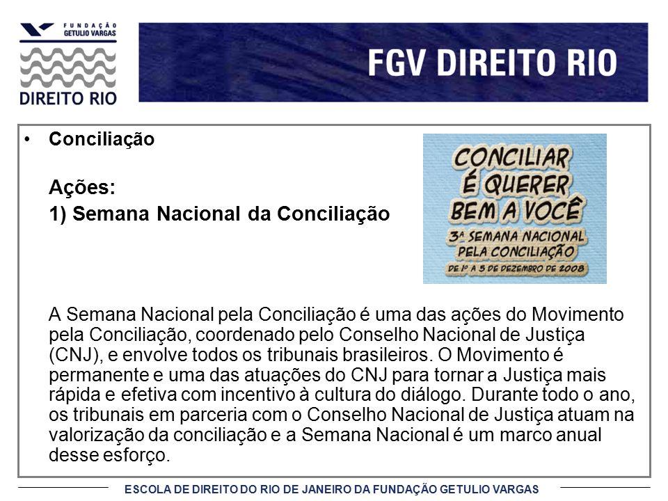 1) Semana Nacional da Conciliação