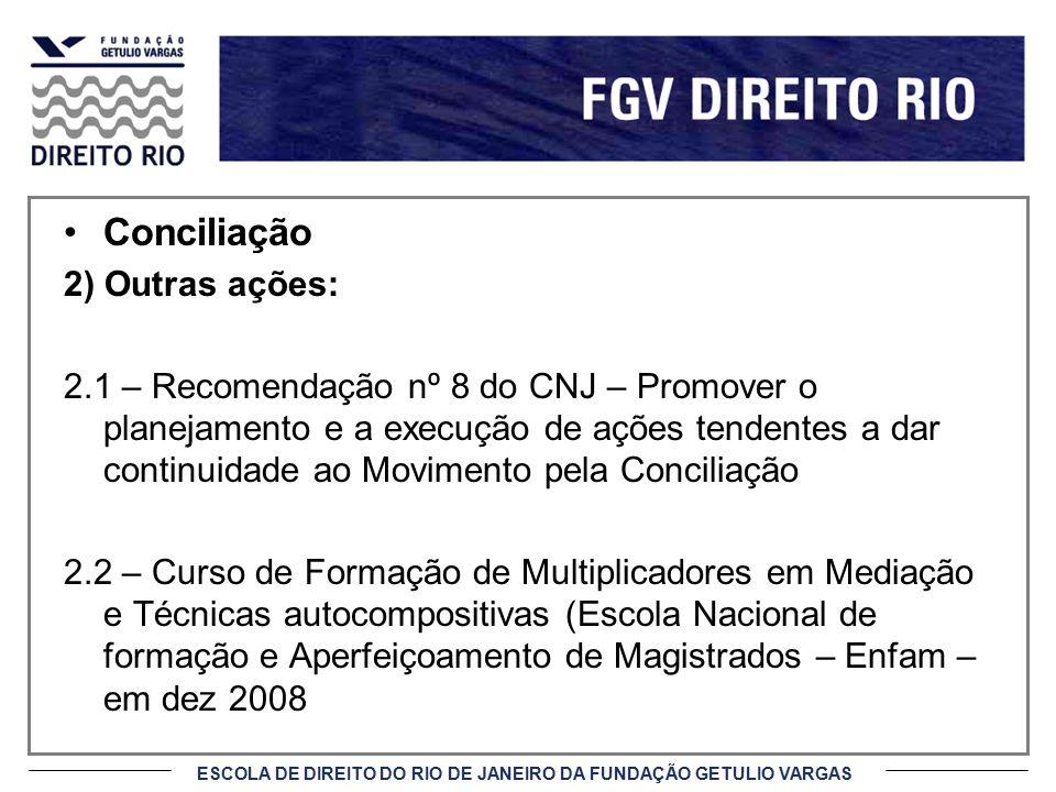 Conciliação 2) Outras ações: