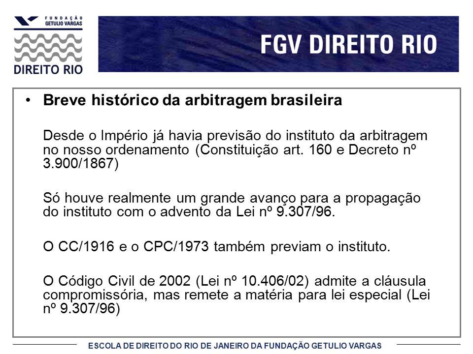 Breve histórico da arbitragem brasileira