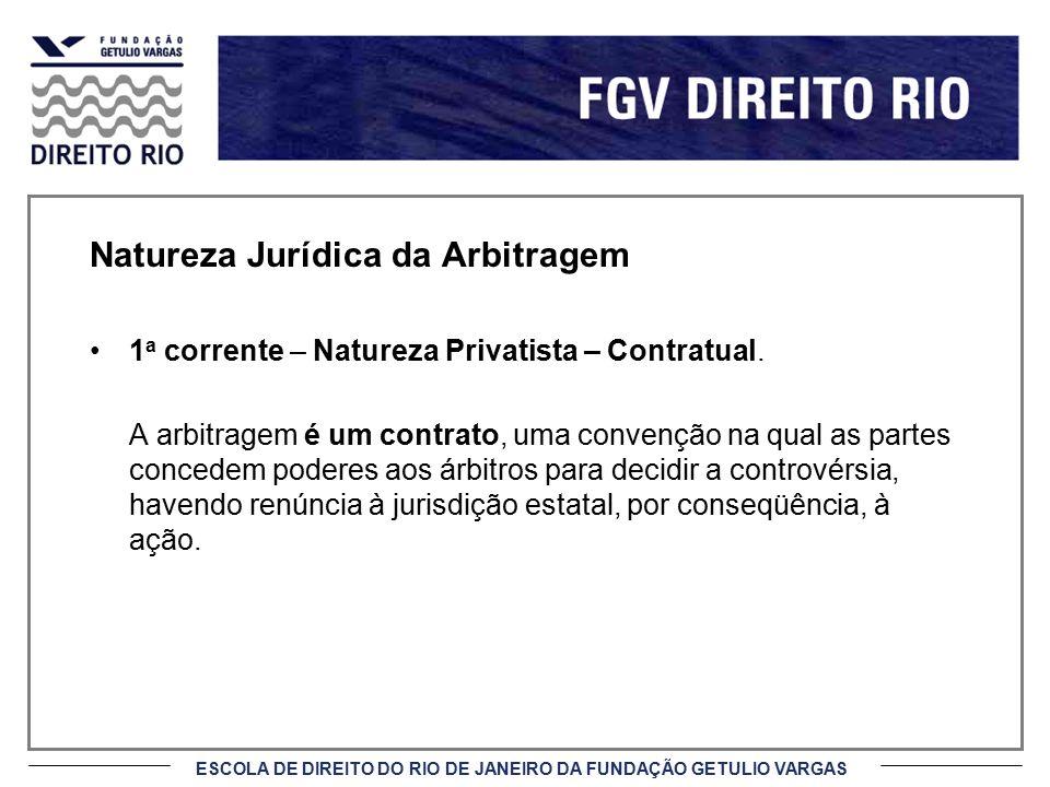 Natureza Jurídica da Arbitragem