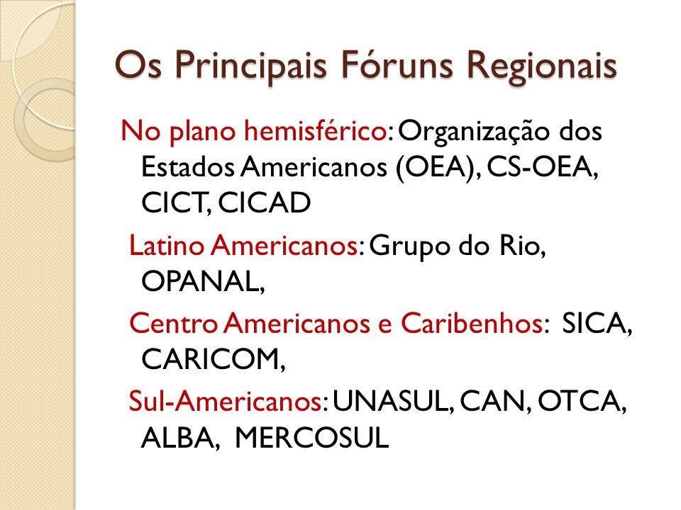 Os Principais Fóruns Regionais
