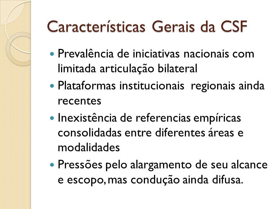 Características Gerais da CSF