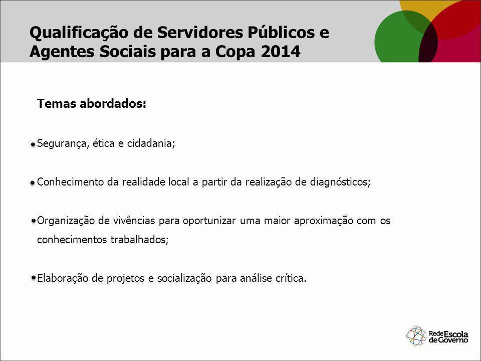 Qualificação de Servidores Públicos e Agentes Sociais para a Copa 2014