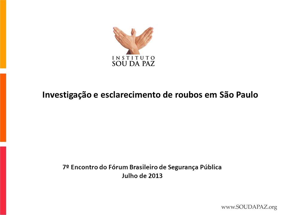 Investigação e esclarecimento de roubos em São Paulo