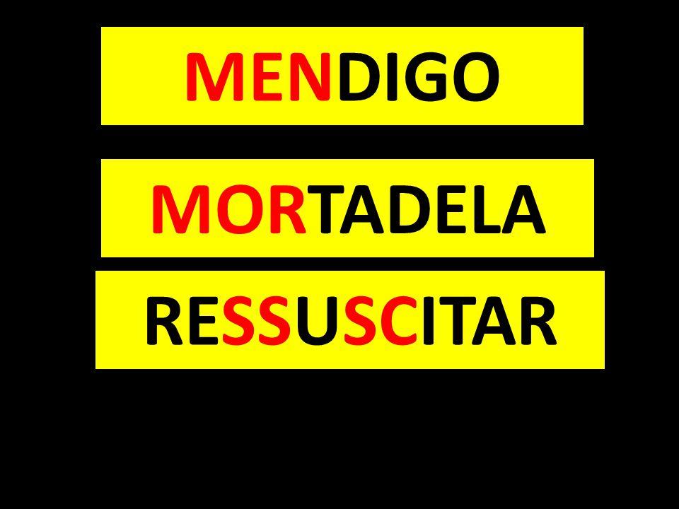 MENDIGO MORTADELA RESSUSCITAR