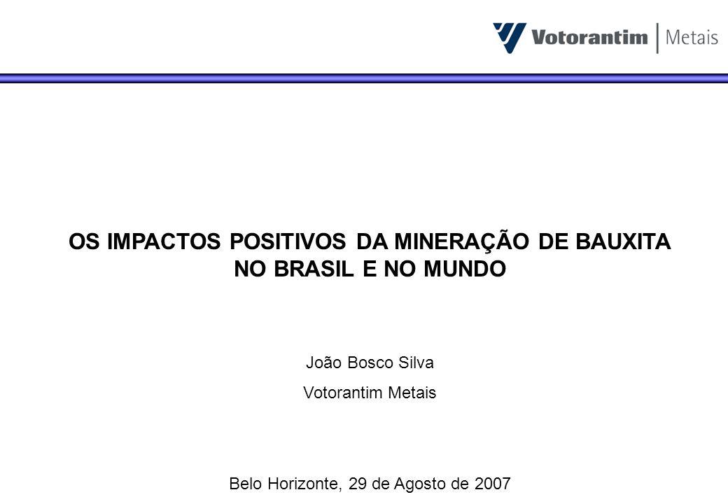 OS IMPACTOS POSITIVOS DA MINERAÇÃO DE BAUXITA NO BRASIL E NO MUNDO
