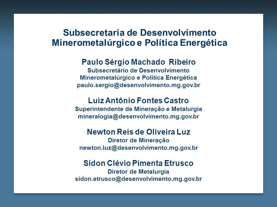 Subsecretaria de Desenvolvimento Minerometalúrgico e Política Energética