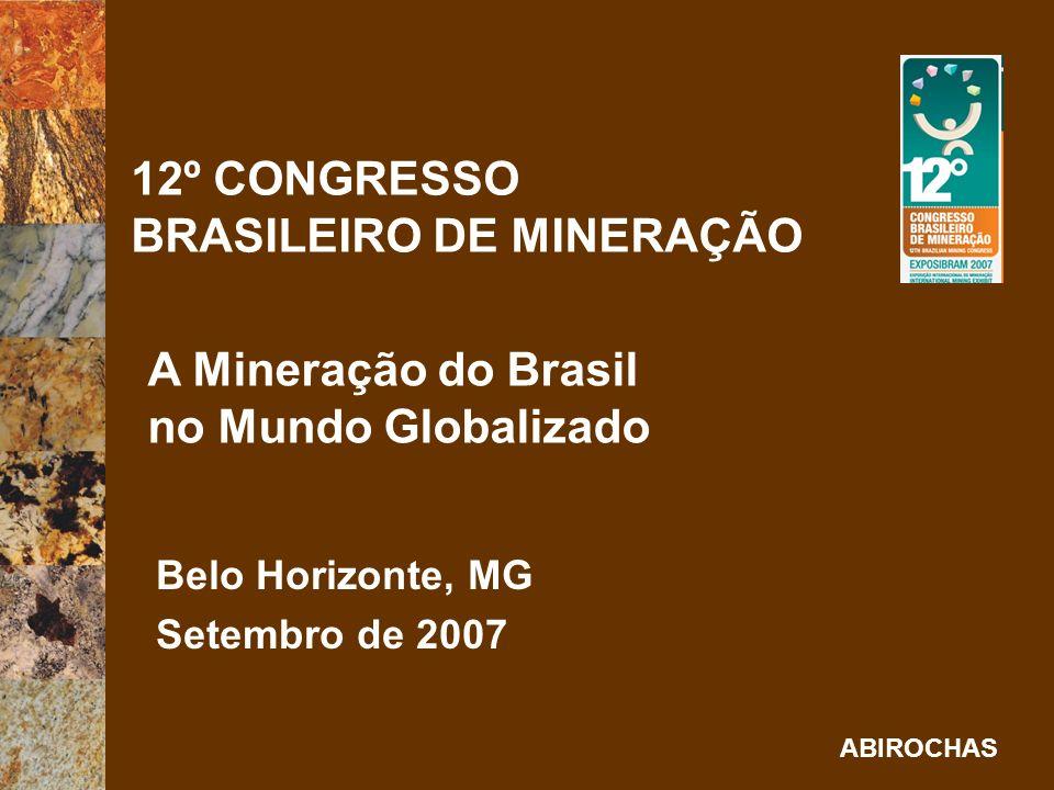 12º CONGRESSO BRASILEIRO DE MINERAÇÃO