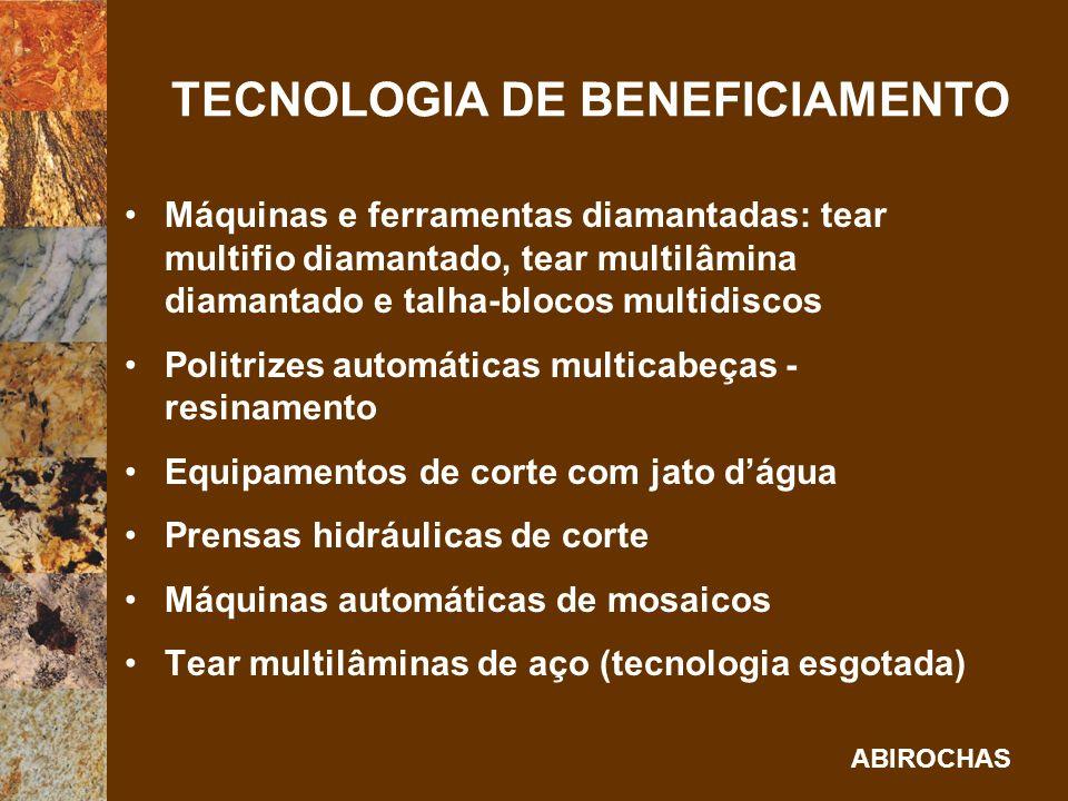 TECNOLOGIA DE BENEFICIAMENTO