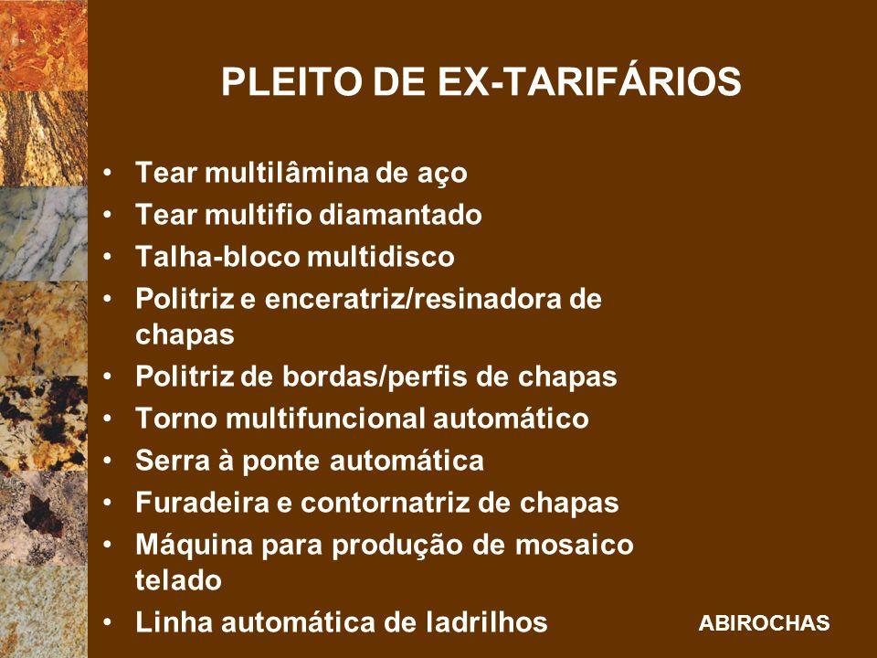 PLEITO DE EX-TARIFÁRIOS
