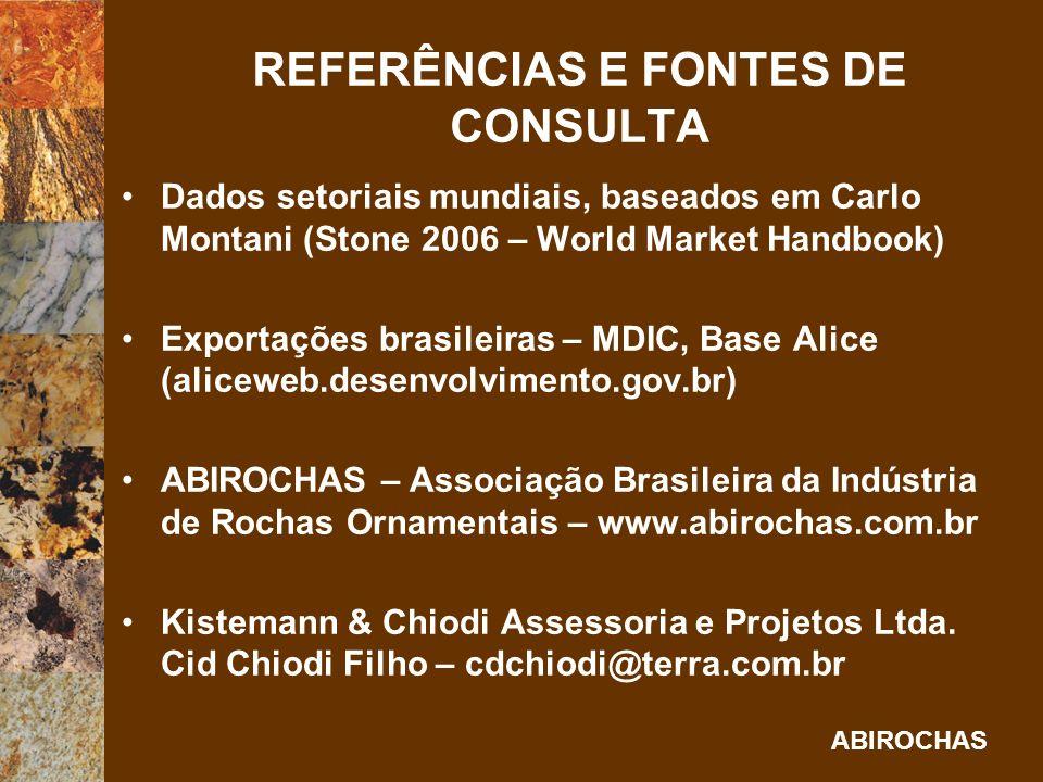 REFERÊNCIAS E FONTES DE CONSULTA