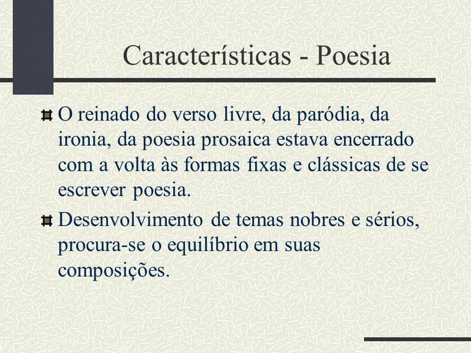 Características - Poesia