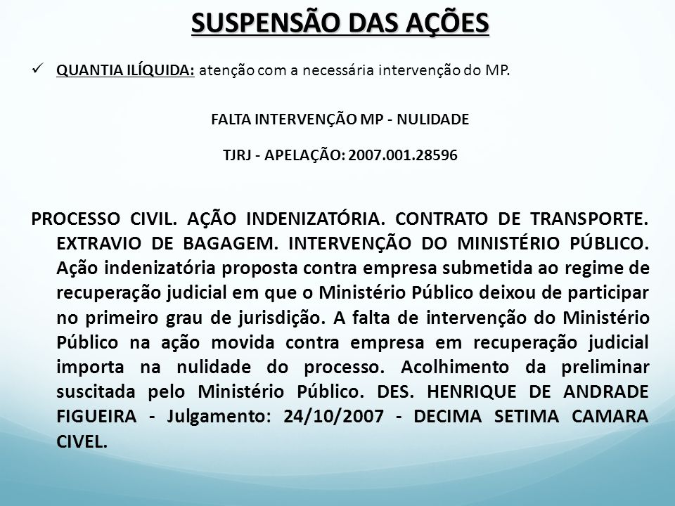 FALTA INTERVENÇÃO MP - NULIDADE