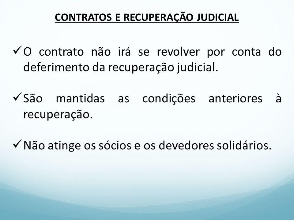 CONTRATOS E RECUPERAÇÃO JUDICIAL