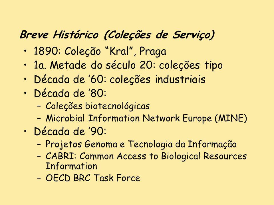 Breve Histórico (Coleções de Serviço)