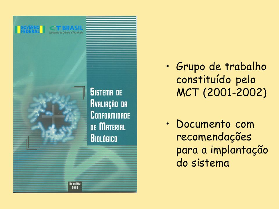 Grupo de trabalho constituído pelo MCT (2001-2002)