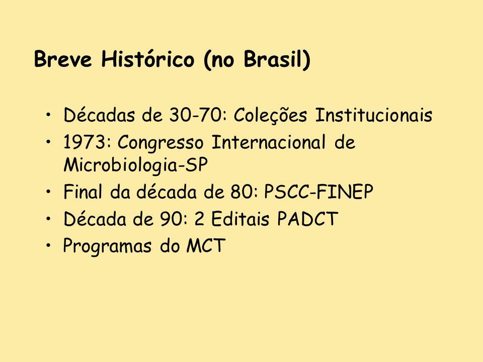Breve Histórico (no Brasil)