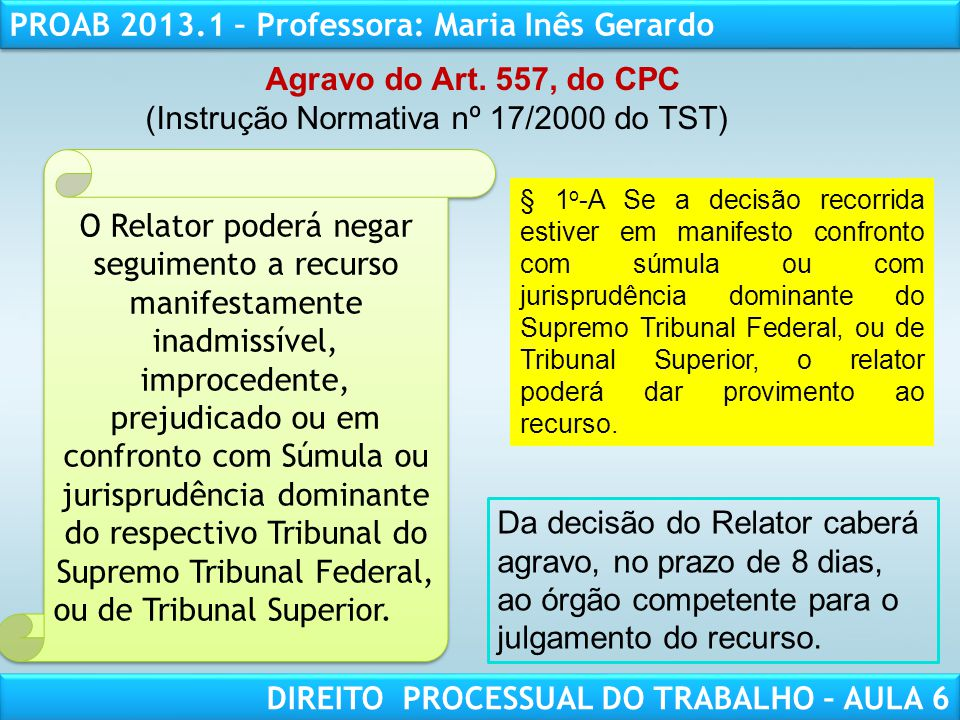 (Instrução Normativa nº 17/2000 do TST)